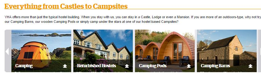 YHA Castles to Camping