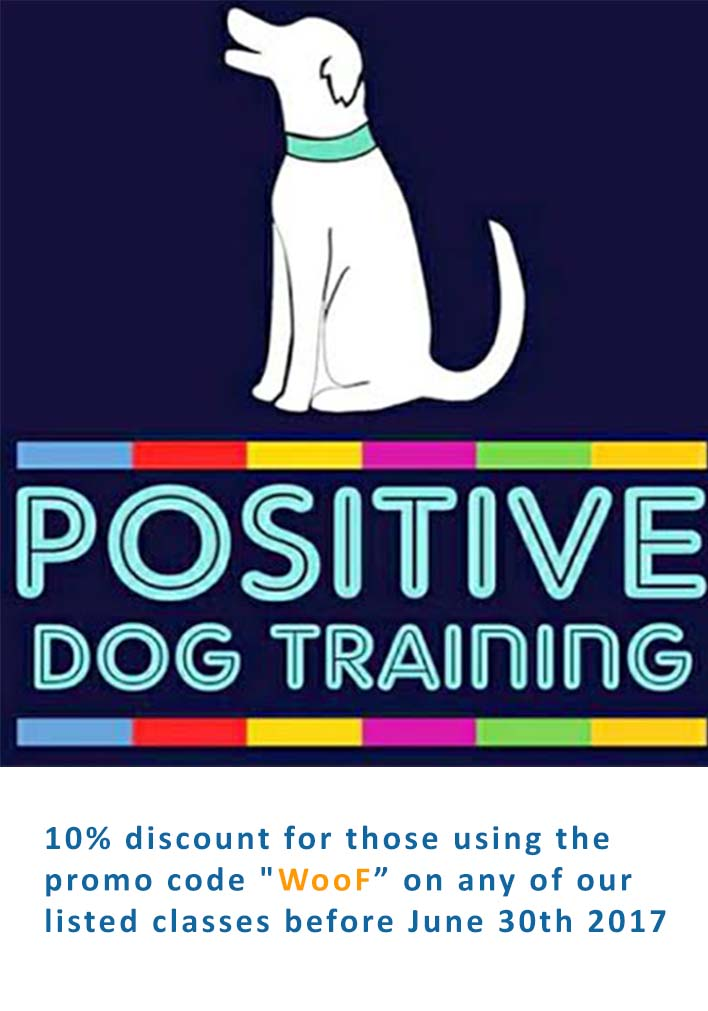Save 10% on Dog Training Courses with Positive Dog Training using Promo Code Woof