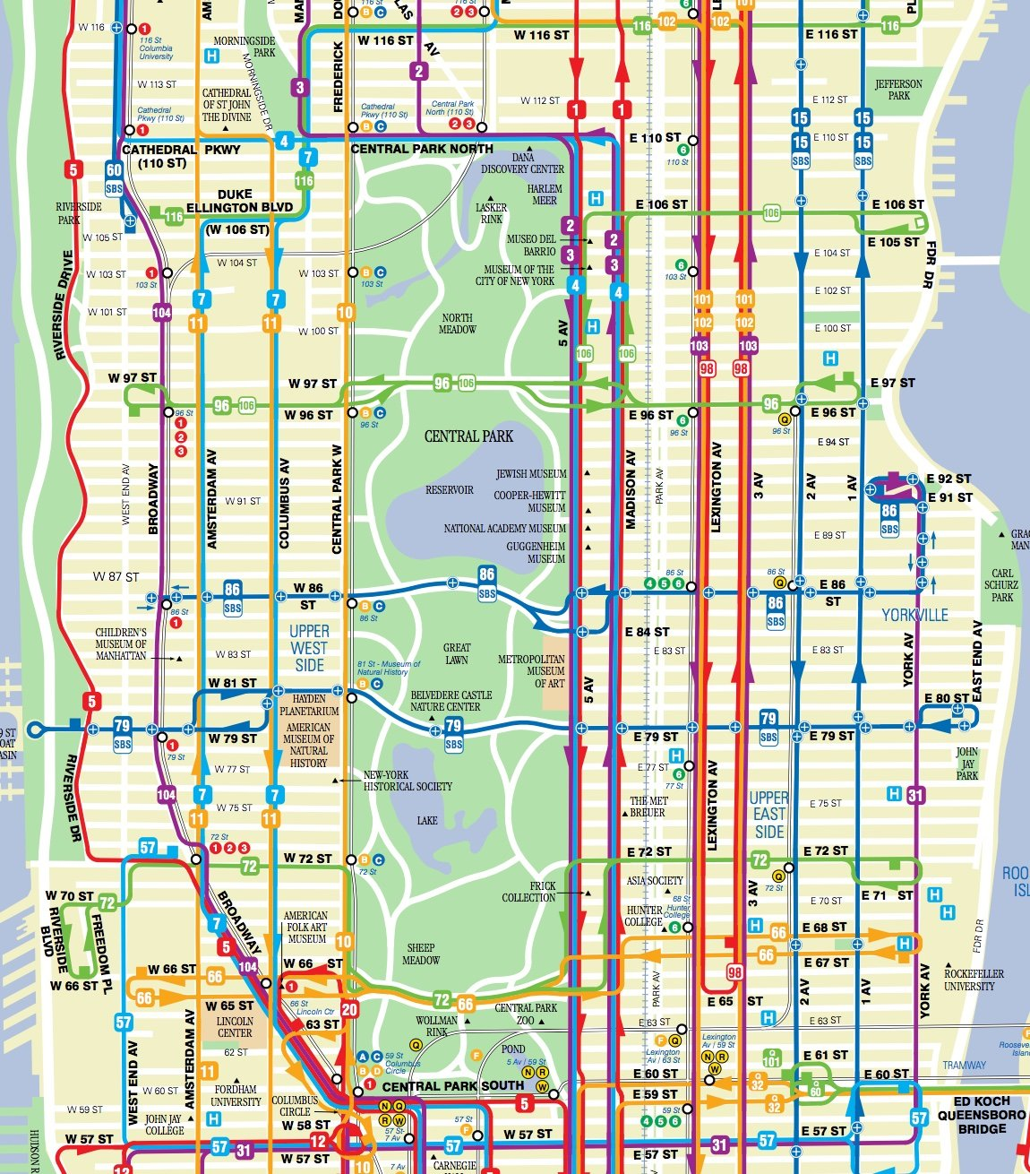 New York Bus Routes Map