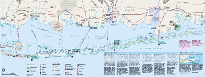 Fire Island Ferry NYC Map