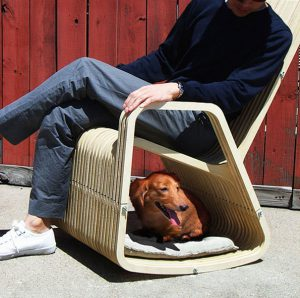 Dog and Owner Rocking Chair