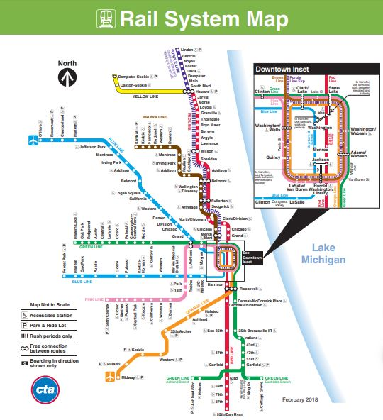Public Transit Pet Policy - Chicago Rail System Map