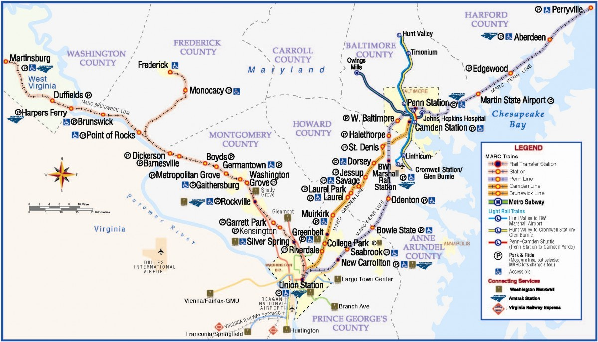 Public Transit Pet Policy - Washington D.C. MARC Public Transport Map