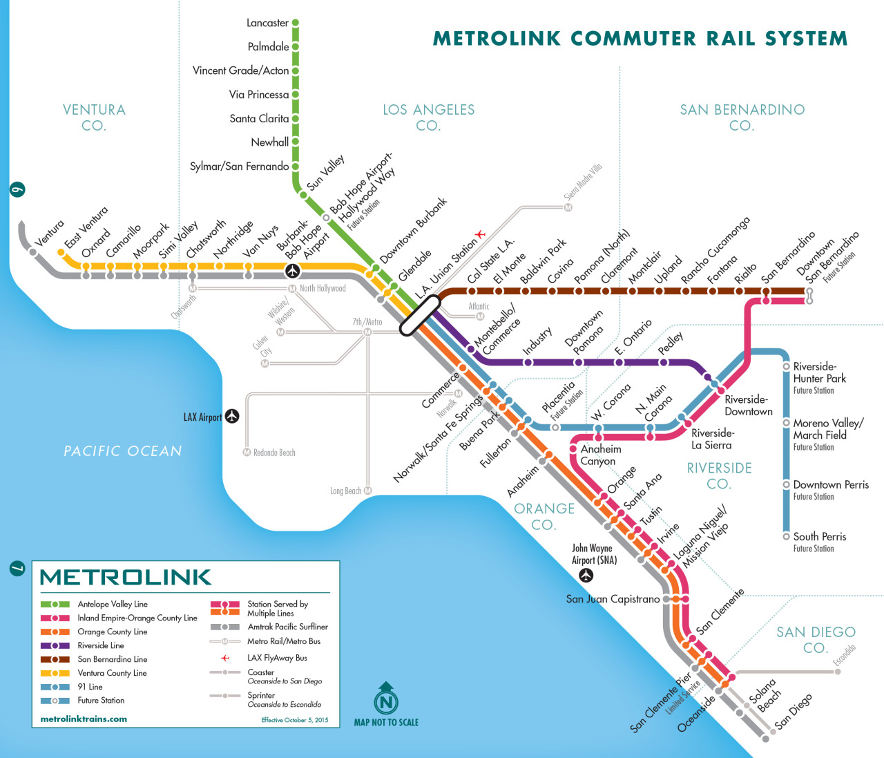Public Transit Pet Policy - Los Angeles MetroLink Map
