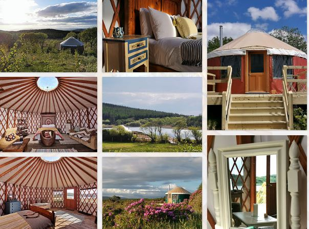 Dog-Friendly Yurts Lough Mardal Lodge Donegal