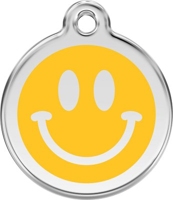 Chewy Red Dingo Smiley Face Charm